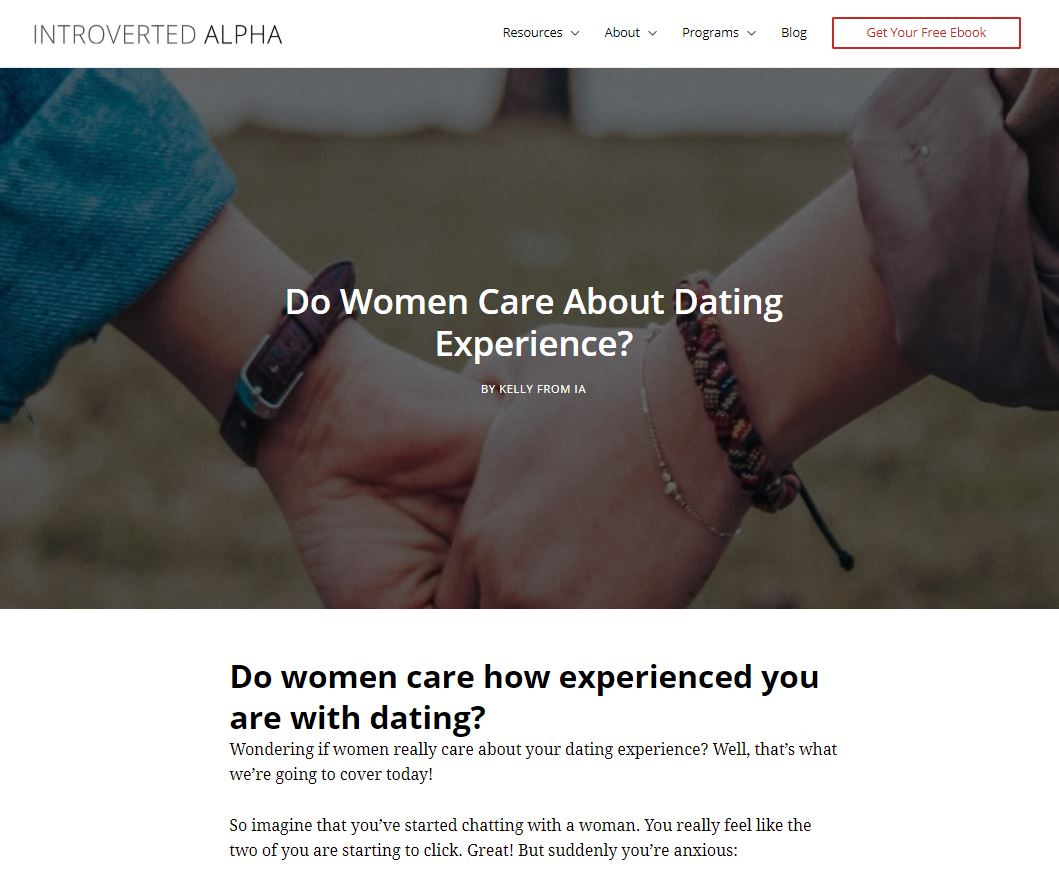 Dating Experience Blog Post Introverted Alpha