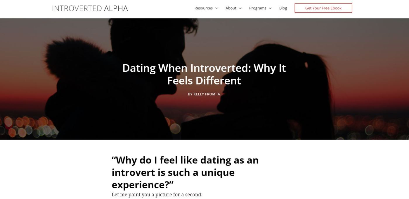 Portfolio - IA - Dating While Introverted
